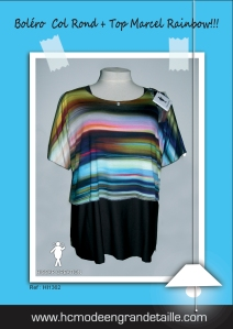 bolero col rond & top marcel rainbow copie