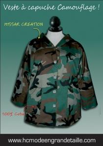 Veste capuche camouflage