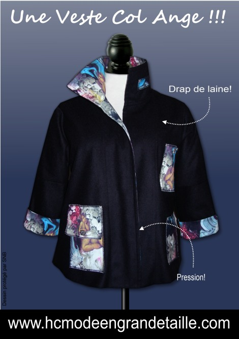 une veste col ange hissar creation