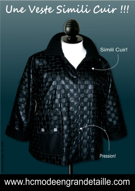veste simili cuir hissar creation